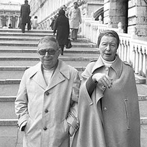 Jean-Paul Sartre and Simone de Beauvoir, 1976