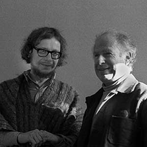 Jerzy Grotowsky and Peter Brook, 1975