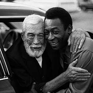 John Huston and Pelè, 1983