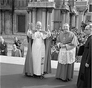 Pope Paul VI and Cardinal Albino Luciani, 1972
